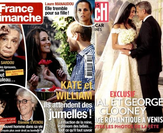 Kate Middleton Enceinte De Jumelles Le Mariage De Clooney Et Amal Le Livre De Laure Manaudou